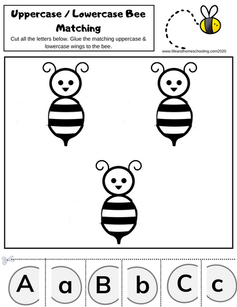 Bee Alphabet Matching