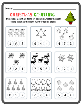 Kindergarten Christmas Math