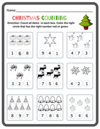 Preschool Christmas Math