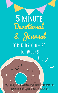 5 minute devotional & journal for kids