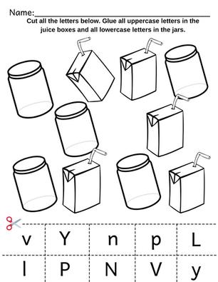 Preschool Alphabet Sorting