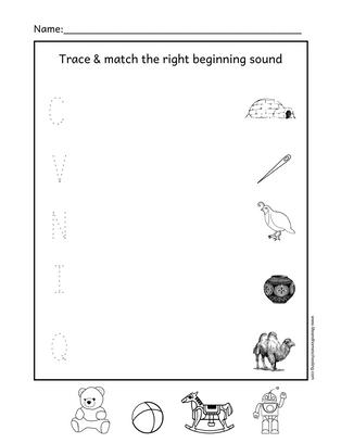 Beginning Sound Matching Worksheet