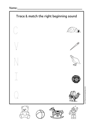 Beginning Sound Matching Worksheet