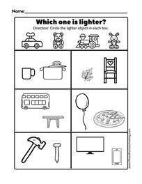 Which one is lighter