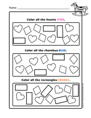 Free Preschool Shapes Activity