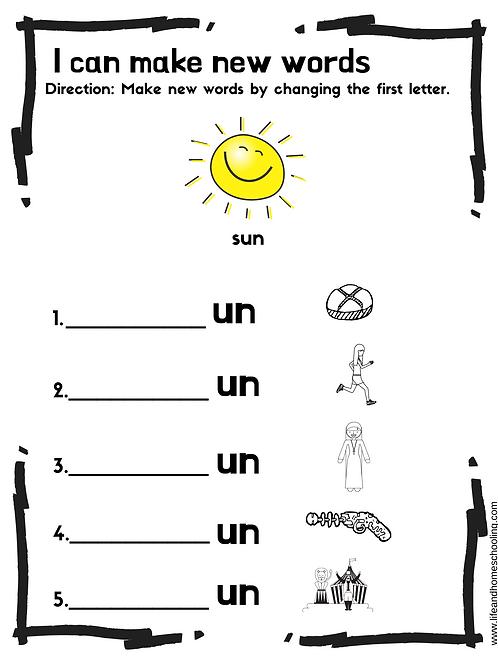 Kinder -1st Grade Spelling