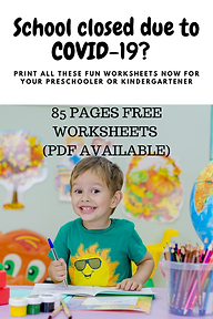 Free Worksheets for preschoolers or kind