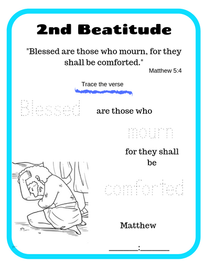 2nd Beatitude verse trace