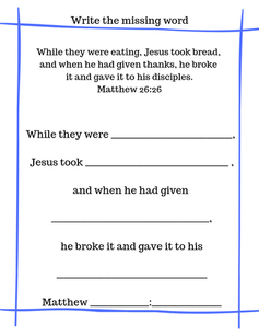 Communion verse printable
