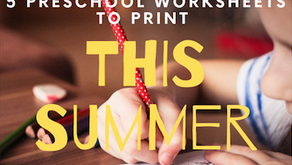 5 Fun Preschool Worksheets to keep them learning and busy this summer