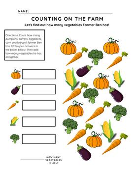 Free preschool counting workseet