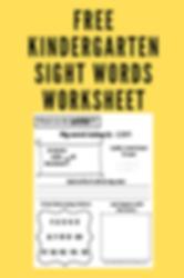 KIndergarten Sight Words Worksheet.png
