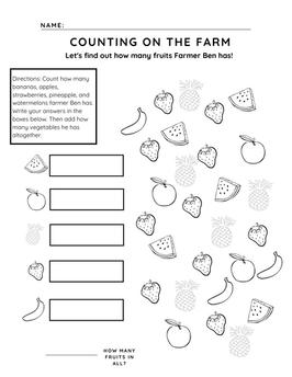 Free preschool counting worksheet