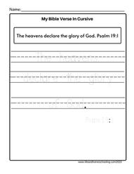 Tracing Bible Verses