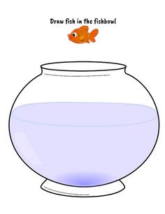Draw a fish printable