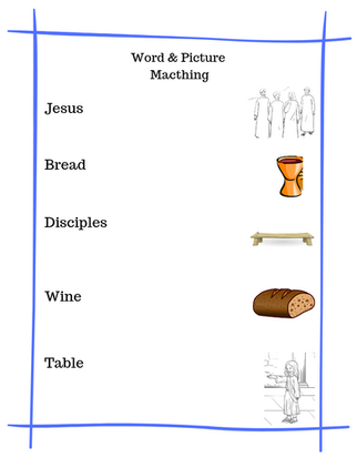 Communion Printable for Kids