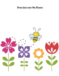 Draw bees printable