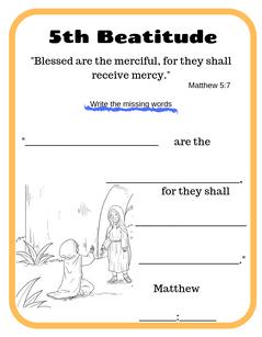 5th Beatitude verse printable