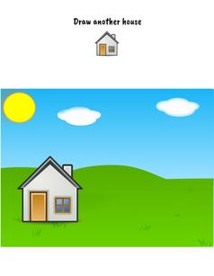 Draw a house printable