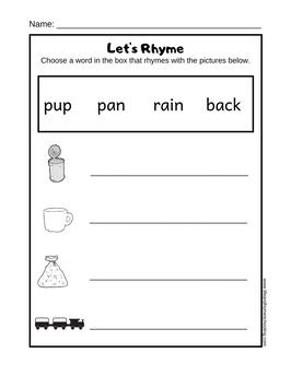 Free rhymong printable worksheet