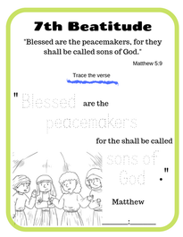 7th Beatitude verse tracing