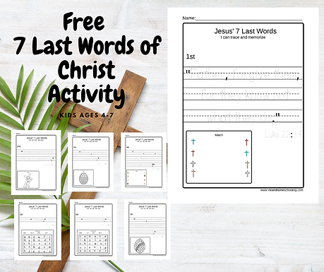 Free 7 Last Words Printable Activity for
