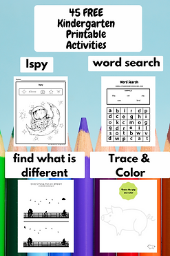 Free Kindergarten Printable Activities LifeandHomeschooling Worksheets