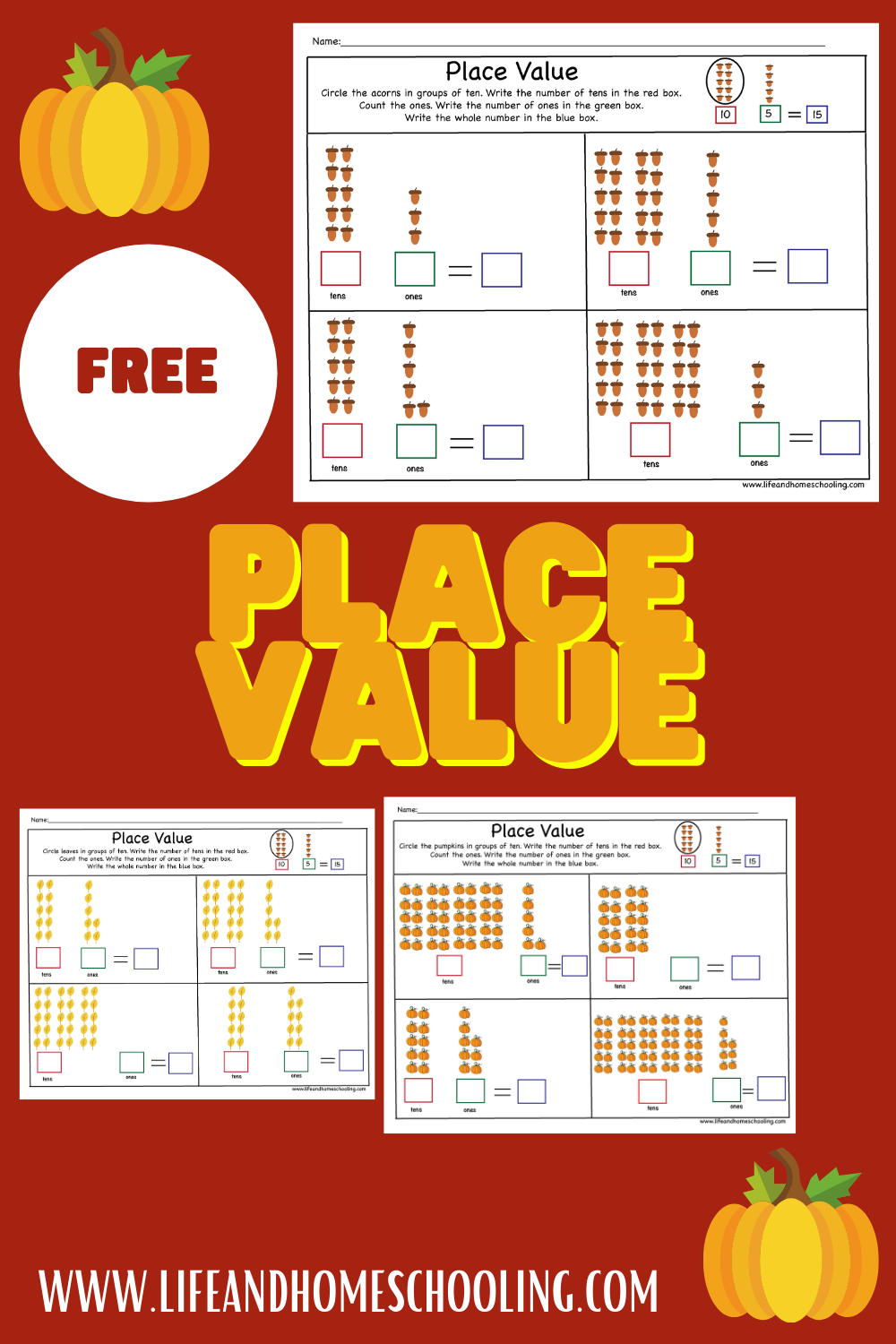 Free place value worksheets / life and homeschooling