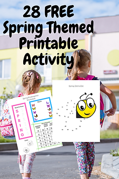 28 FREE Spring Themed Printable Activity