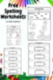 Free Spelling Worksheets Homeschooling