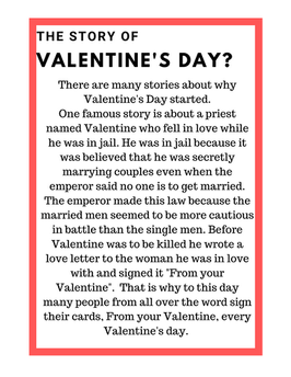 Story of Valentines Day Printable