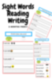 Sight Words Reading Writing Worksheet