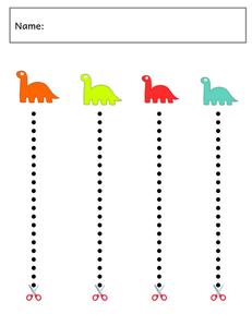 Toddler Cutting Practice Printable