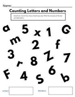 Free preschool counting printable