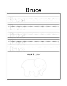 Free name tracing worksheet