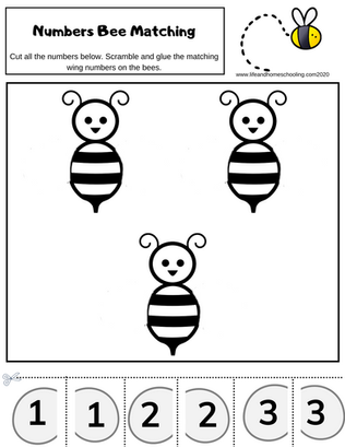 Free Number Matching Worksheet LifeandHo