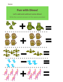 Preschool Addition Worsheet