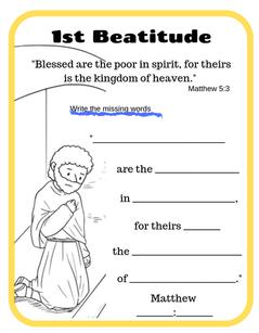 1st Beatitude Printable