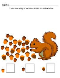 Preschool-Kindergarten Fall Counting Activity