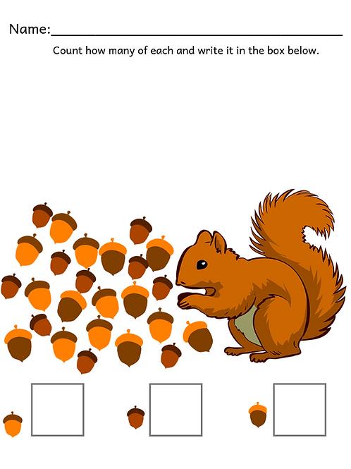 Fall Math (Preschool)