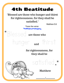 4th Beatitude verse tracing