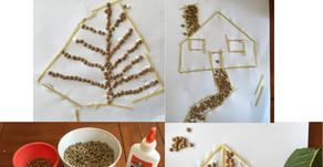 Kindergarten Craft using Spaghetti and Lentils!!!