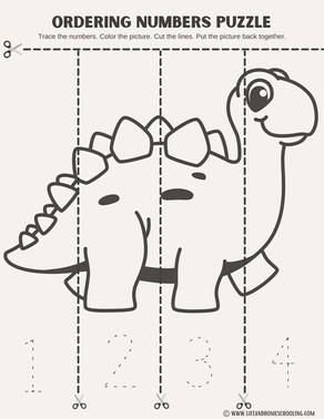 Ordering Numbers Preschool Printable Worksheet