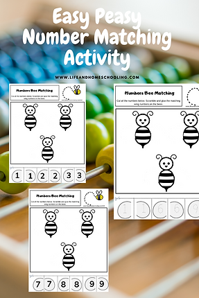 Number Matching Activity LifeandHomeschooling Worksheets