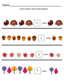 Preschool-Kindergarten Fall Pattern Activity