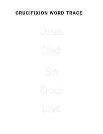 Easter word trace