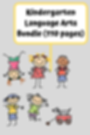 Kindergarten Language Arts Bundle (110 p