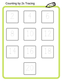 Counting by 2s Tracing