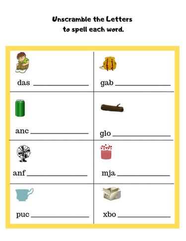 Spelling Worksheet