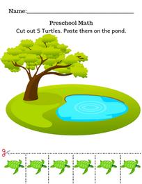 Preschool Math Cut & paste